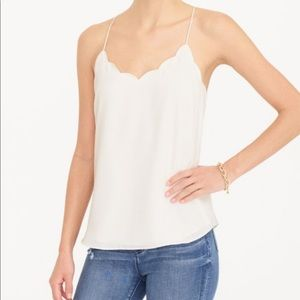 NWT J.Crew Scalloped Cami Tank Top Marine Salt 4